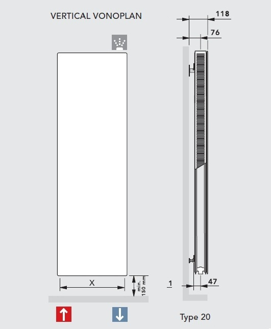 Vogel&Noot VonoPLAN Vertical K20 x 1600 x 400