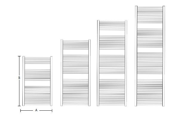 Calorifer din aluminiu pentru baie Fondital COOL 550x1740