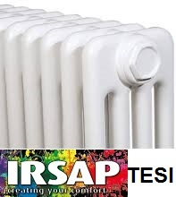 Calorifer multicoloana tubular IRSAP TESI 4 H 500
