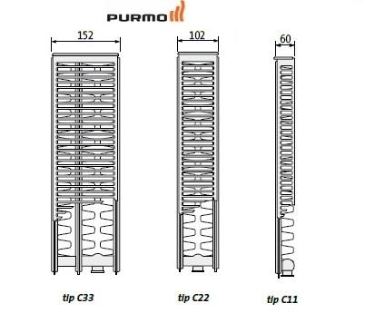 Calorifer Purmo Ventil Compact VC 22-300-1800