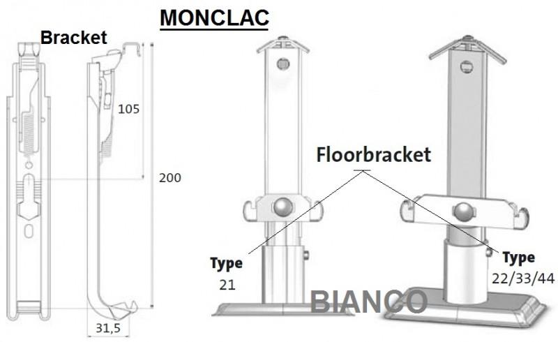 Suport de perete Monclac Bracket 200