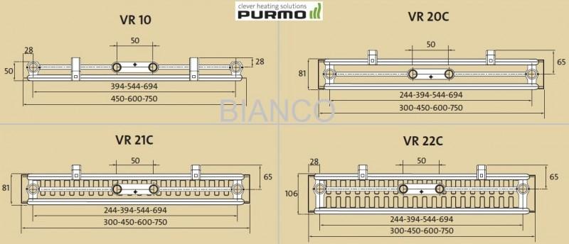 Calorifer vertical Purmo VR21C/1950/750