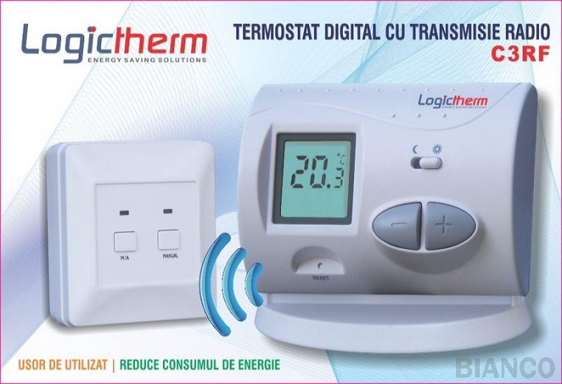Termostat de ambient cu radiofrecventa Logictherm C3-RF
