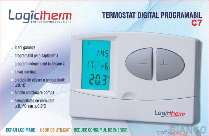 Termostat digital programabil Logictherm C7 cu fir