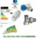 Set robinet cu cap termostatic si robinet retur Jurgen Schlosser 1/2