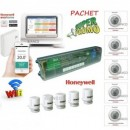 Kit incalzire in pardoseala Honeywell WiFi pentru 5 circuite si 5 zone