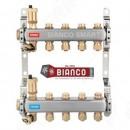 Distribuitor din inox cu 4 circuite tur - retur pentru calorifere