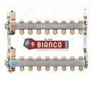 Distribuitor din inox cu 8 circuite tur - retur pentru calorifere