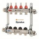 Distribuitor din inox cu debitmetre si ventile termostatice cu 5 circuite Heimeier DYNALUX