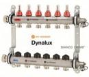 Distribuitor din inox cu debitmetre si ventile termostatice cu 6 circuite Heimeier DYNALUX